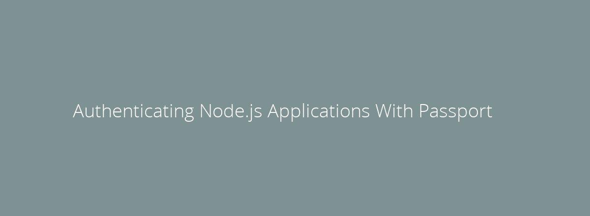 4elements | web design Den Haag blog • Authenticating Node.js Applications With Passport