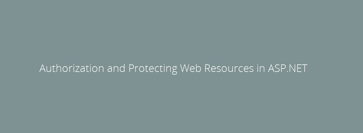 4elements | web design The Hague blog • Authorization and Protecting Web Resources in ASP.NET
