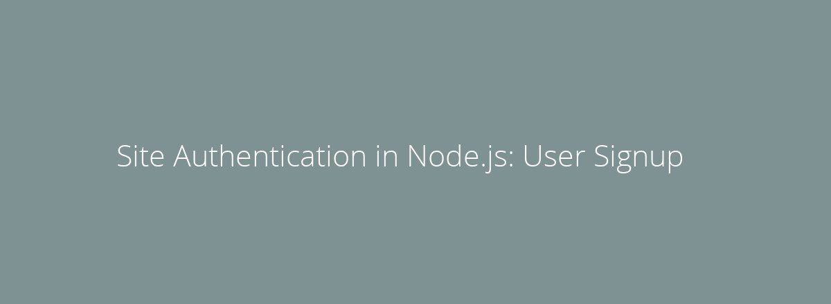 4elements | web design The Hague blog • Site Authentication in Node.js: User Signup